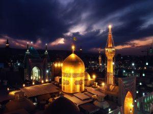 حرم الامام الرضا عليه السلام في مدينة مشهد