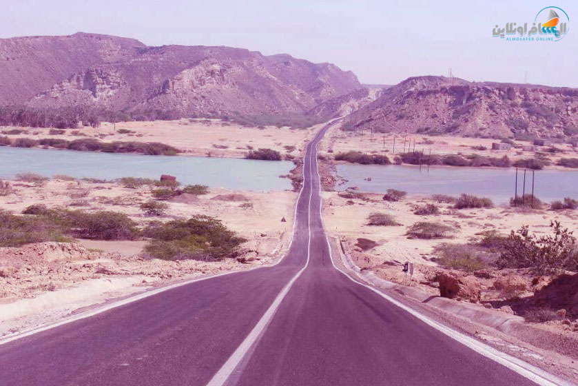 البحيرة الوردية في تشابهار إیران