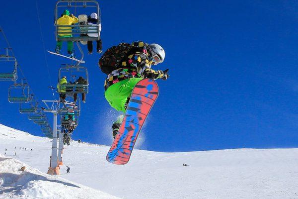 التزلج في توشال للتزلج في طهران ، إيران