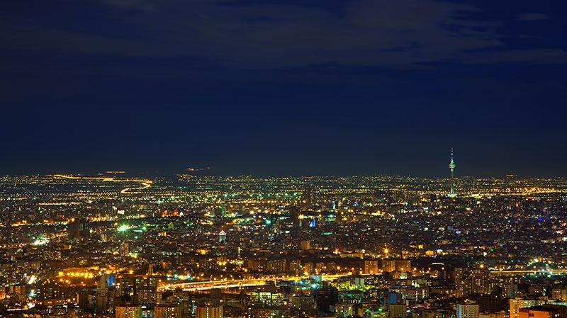 ليلة مسالمة في طهران ، عاصمة إيران
