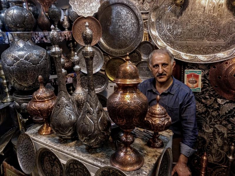 سوق القيصرية في ميدان نقش جهان