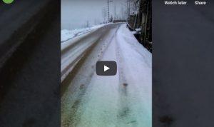 كلاردشت في موسم الشتاء