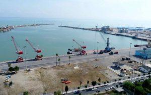 ميناء نوشهر في شمال إيران