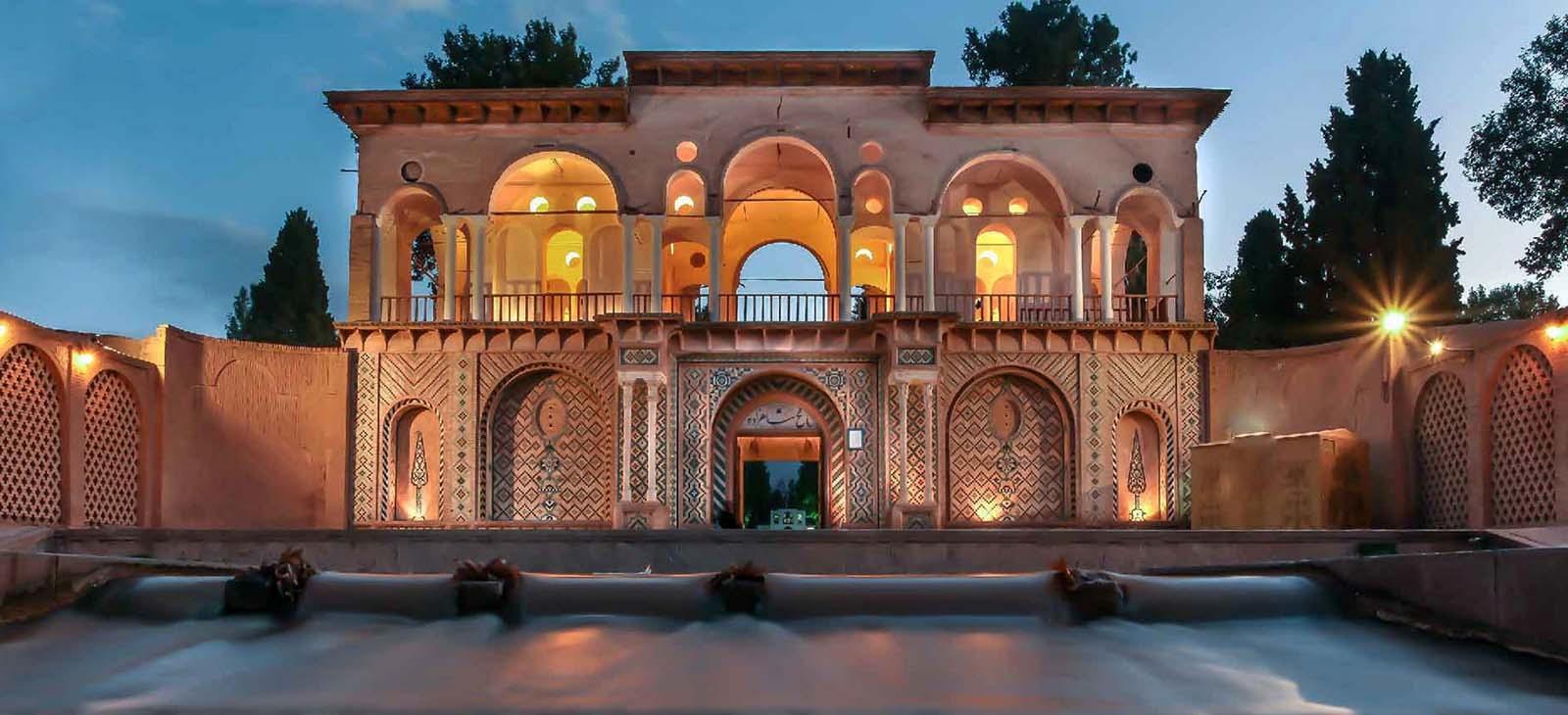 حديقة شاهزاده ماهان في محافظة كرمان الإيرانية