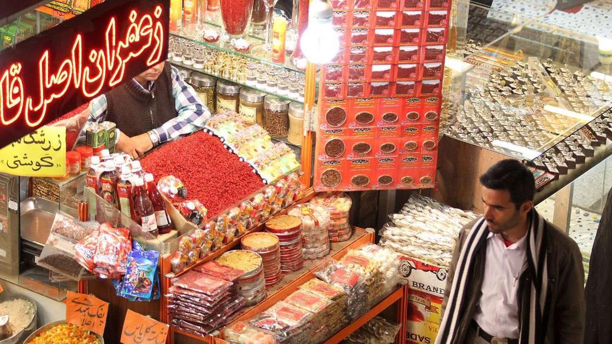 سوق الإمام الرضا في مدينة مشهد الإيرانية