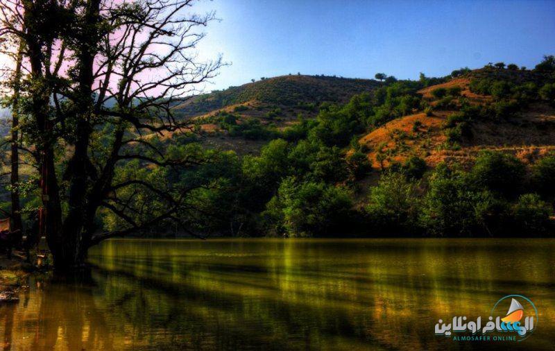 بحيرة شورمست في شمال إيران