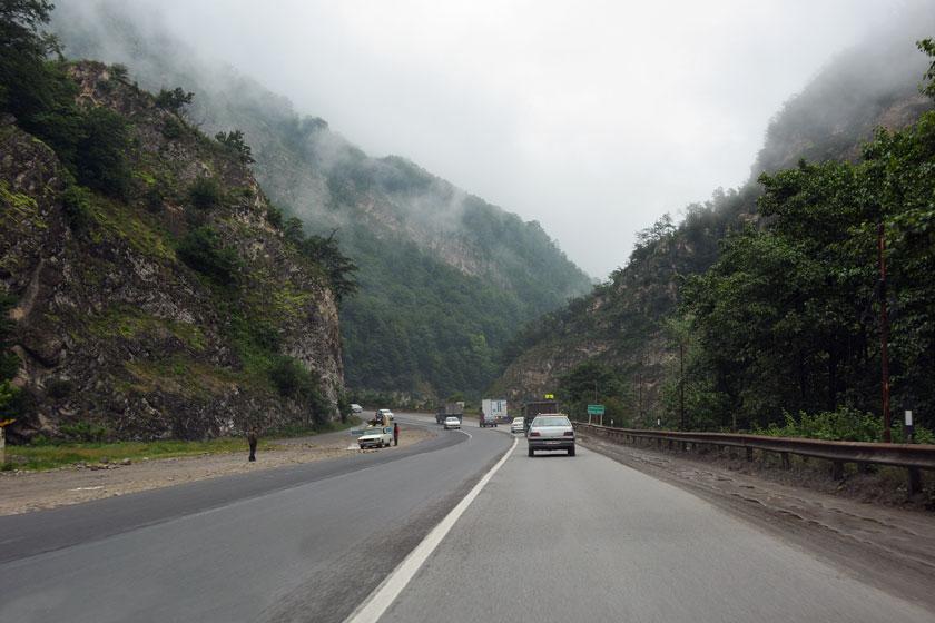 طريق هراز في شمال إيران