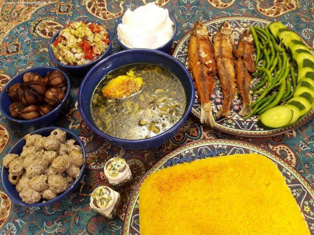 أطعمة الإيرانية في شمال إيران