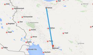 لرحلة من طهران إلى شيراز