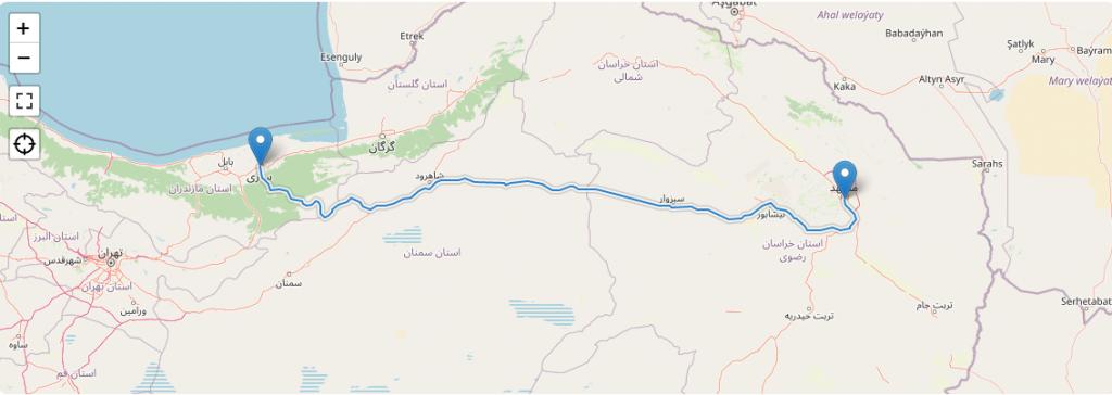 كم تبعد مازندران عن مشهد